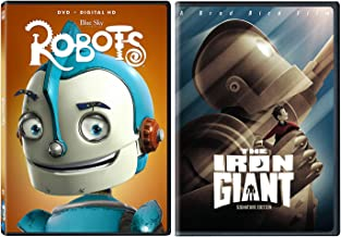 Iron Giant & Robots Double Feature DVD Cartoons Movie Animated Family 2-pack Set