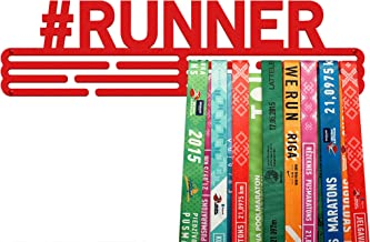 United Medals #RUNNER, Sport Medaille Hanger Display | Mat Root Staal houder medaillehanger (Max. 48 Medailles)