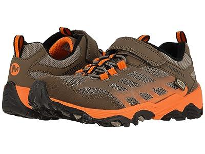 Merrell Kids Moab FST Low A/C Waterproof (Little Kid/Big Kid) (Brown/Orange) Boys Shoes