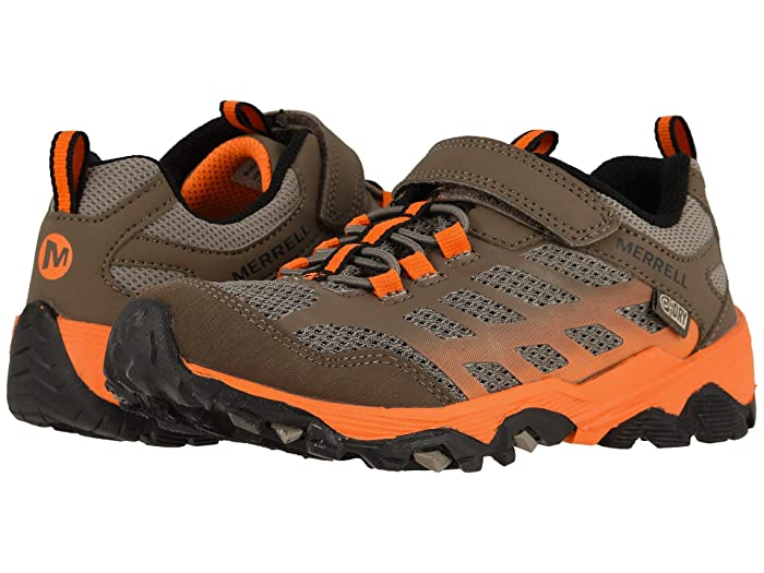 Merrell Kids  Moab FST Low A/C Waterproof (Little Kid/Big Kid) (Brown/Orange) Boys Shoes
