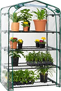Best Choice Products 40in Wide 4-Tier Mini Greenhouse, Portable Indoor Outdoor Arboretum for Patio, Backyard, Nursery, Hom...