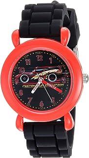 Disney - Reloj de Cuarzo para niño, de plástico y Silicona, Color Negro (Modelo: WDS000449)