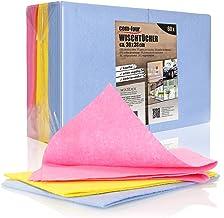 COM-FOUR® 60x reczniki domowe, wyjatkowo chlonne, wytrzymale uniwersalne chusteczki z wiskozy, wielokrotnego uzytku (Zesta...