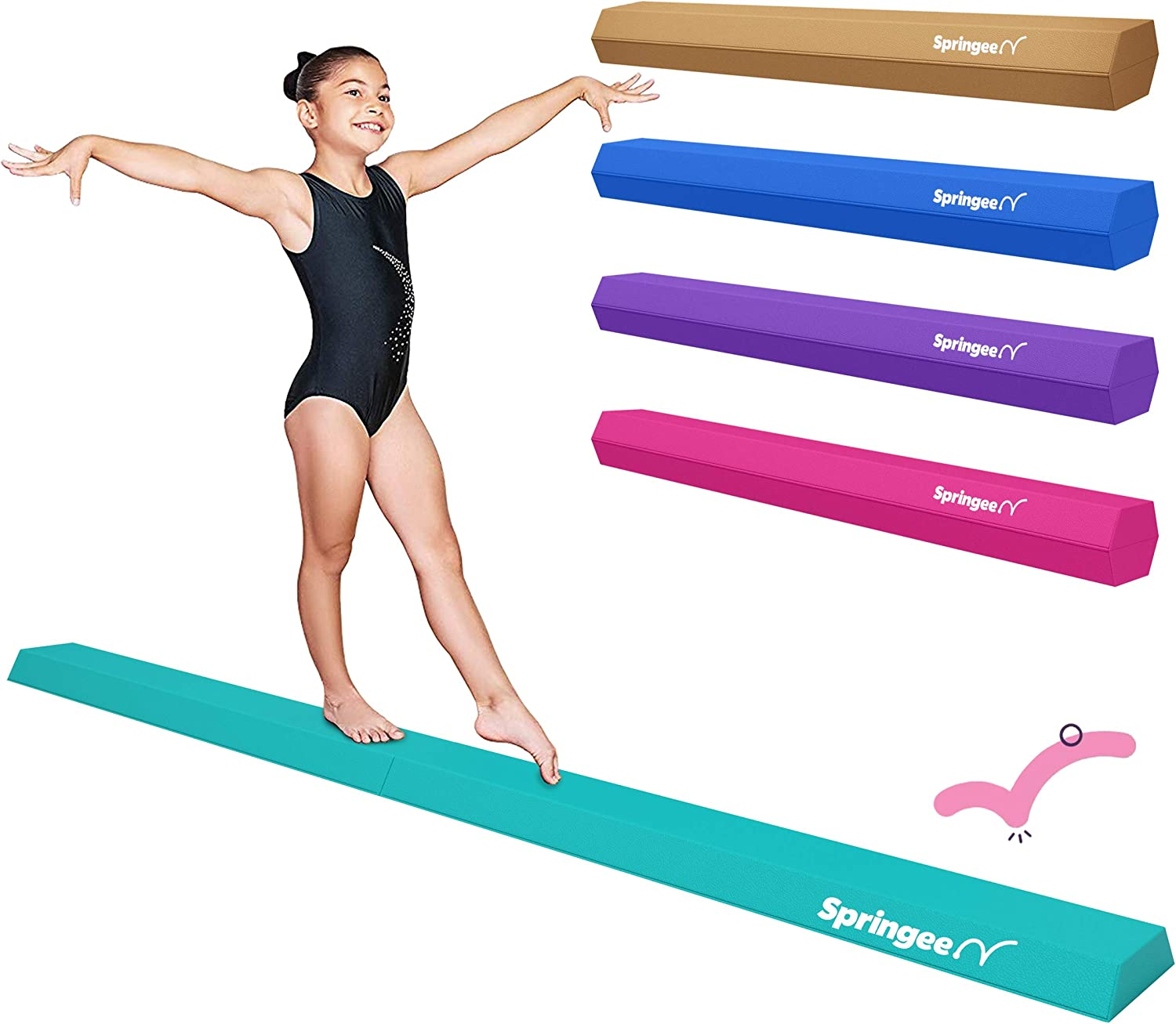 Springee 9ft Balance Free shipping Excellent Beam - Folding Firm Extra Gymnastic Vinyl