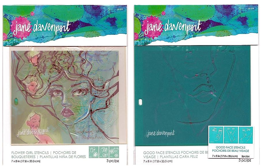 Jane Davenport Artomology Stencils - Flower Girl and Good Face Sets