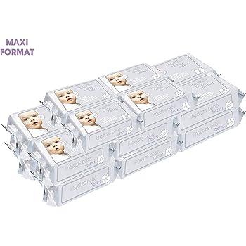Sans alcool 1280 lingettes Lingettes B/éb/é CONFORT Maxi format 16 packs de 80 lingettes Ultra douces et /épaisses Aloe Vera