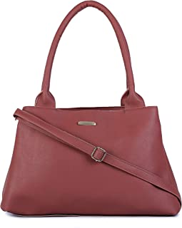 GLOSSY Women's Handbag With 3 Zip Compartments