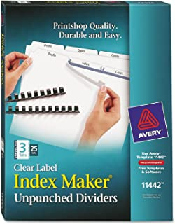 Ave11442–Avery Index Maker clair Label intercalaire