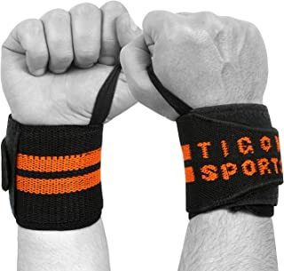Tigon Sports Power Wrist Wrap Weight Lifting Training Straps Support Grip Gym Body Building