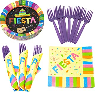 Fiesta Value Party Supplies Pack (58+ Pieces for 16 Guests), Value Party Kit, Fiesta ingo Party Plates, Fiesta Birthday, N...