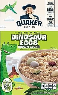Quaker Instant Oatmeal, Dinosaur Eggs,Brown Sugar 8 ct, 14.1 oz