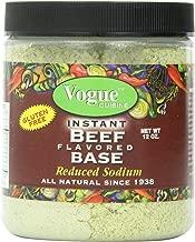 Vogue Cuisine Beef (Vegetarian Beef) Soup & Seasoning Base 12oz - Low Sodium, Gluten Free, All Natural Ingredients