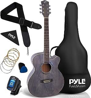 "Pyle 36"" Cutaway Acoustic Guitar-3/4 6 Steel Linden Wood Matte Finish Guitar w/Gig Bag, Tuner, Extra Strings, Picks, Stra..."