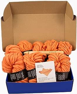Super Soft Chunky Yarn Crochet Afghan Baby Blanket Kit with Jumbo Hook US50/ 25MM (Crochet Kit)