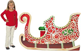 Fun Express - Sleigh Standup for Christmas - Party Decor - Large Decor - Floor Stand Ups - Christmas - 1 Piece