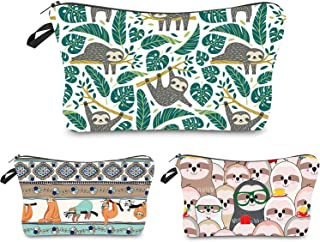 Portable Makeup Bag Organizer Travel Magic 3D Printing Cosmetic Bags Waterproof Pen Cases Brush Storage Pouch for Women Purse (Tree Sloths)