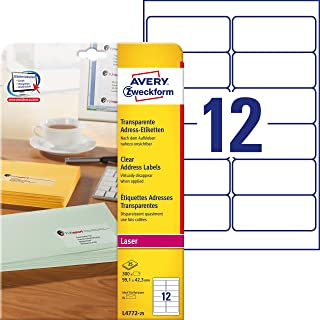 Avery Zweckform Transparente Adress-Etiketten, 99,1 X 42,3Mm
