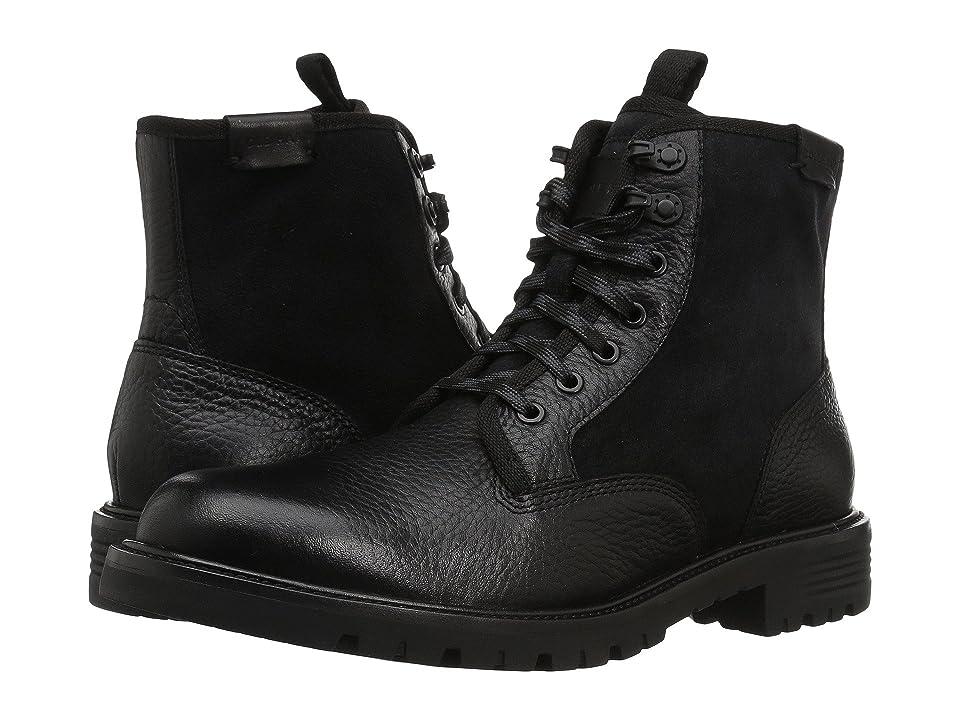 Cole Haan Grantland Plain Toe Lace-Up Waterproof (Black WP) Men