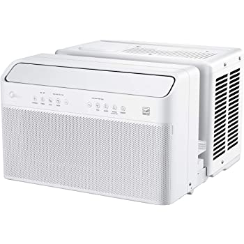 Midea U Inverter Window Air Conditioner 8,000BTU, U-Shaped AC with Open Window Flexibility, Robust Installation,Extreme Quiet, 35% Energy Saving, Smart Control, Alexa, Remote, Bracket Included