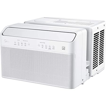 Midea U Inverter Window Air Conditioner 12,000BTU, U-Shaped AC with Open Window Flexibility, Robust Installation,Extreme Quiet, 35% Energy Saving, Smart Control, Alexa, Remote, Bracket Included