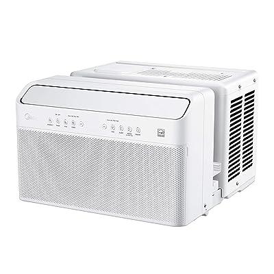 Midea MAW08V1QWT U Inverter Window Air Conditioner 8,000BTU, U-Shaped AC with Open Window Flexibility