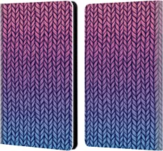 Official Micklyn Le Feuvre Chunky Knit Patterns Leather Book Wallet Case Cover Compatible for Kindle Paperwhite 1/2 / 3