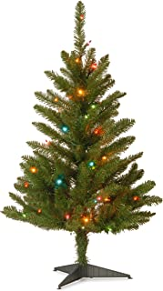 National Tree 3 Foot Kingswood Fir Wrapped Pencil Tree with 50 Multicolor Lights (KW7-313-30)