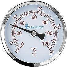 Lantelme Thermometer voor verwarming met schroefdraad dompelhuls voor warm en koud water analoog 120 °C verwarmingsthermom...