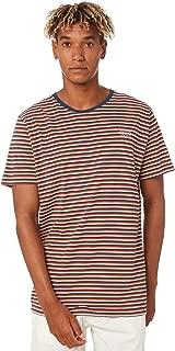 Swell Men's Monitor Yarn Dye Tee Crew Neck Short Sleeve Cotton Red