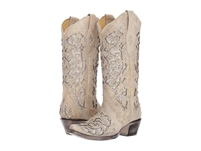 Corral Boots A3322 (White Glitter) Cowboy Boots