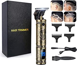 AMULISS Professional Mens Hair Clippers Zero Gapped Cordless Hair Trimmer Professional Haircut & Grooming Kit For Men Rechargeable LED Display