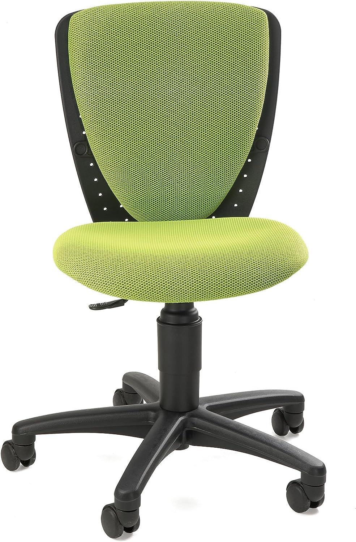 Topstar 70570BB50 High S'cool, Kinder- und Jugenddrehstuhl, Schreibtischstuhl für Kinder, Bezugsstoff grün