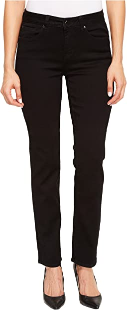 "Five-Pocket 33"" Straight Leg Dream Jeans in Black"