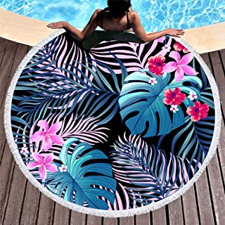 Beach Pool Picnic Round Towel Large Swimming Holiday Blanket Travel Rug