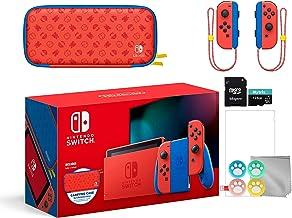 Nintendo 2021 Mudar Mario Red & Blue Limited Edition com Mario Iconografia Carrying Case e protetor de tela Bundle com Myt...