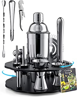 BOKHOT Bartender Kit - 12-Piece Stainless Steel Cocktail...