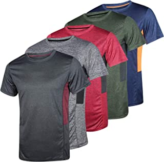 5 Pack: Men's Dry-Fit Moisture Wicking Active Athletic...