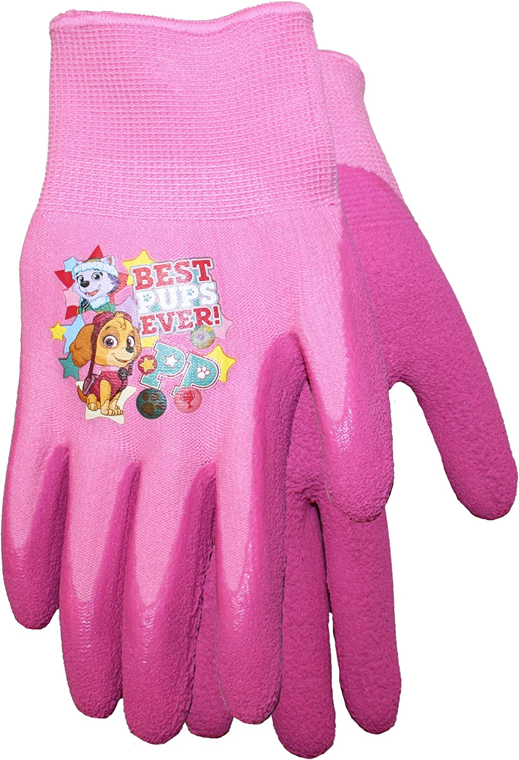 Midwest Gloves & Gear PWG100T-T-AZ-6 Gripper, PWG100T, Toddler, Pink Midwest Quality Gloves Nickelodeon Paw Patrol Girls Kids Garden Grippe