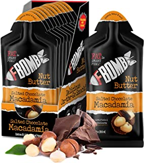 FBOMB Macadamia Nut Butter Packets: Salted Chocolate (10 Pack), Keto Fat Bombs: All-Natural Energy From Healthy Fats | Low...