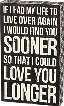 لافتة صندوق كلاسيك 27283 من برايمتفيز، بعبارة I Could Love You Longer