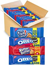 OREO Cookies, CHIPS AHOY! Cookies & Nutter Butter Cookies Variety Pack, 12 King Size Packs
