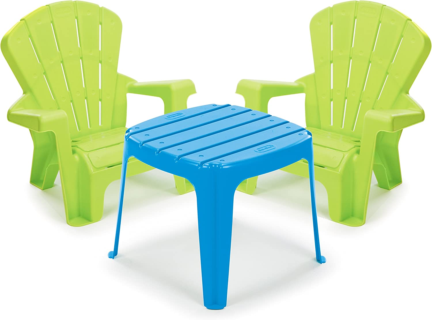 Little Tikes Garden Table and Chairs Set, bluee Green