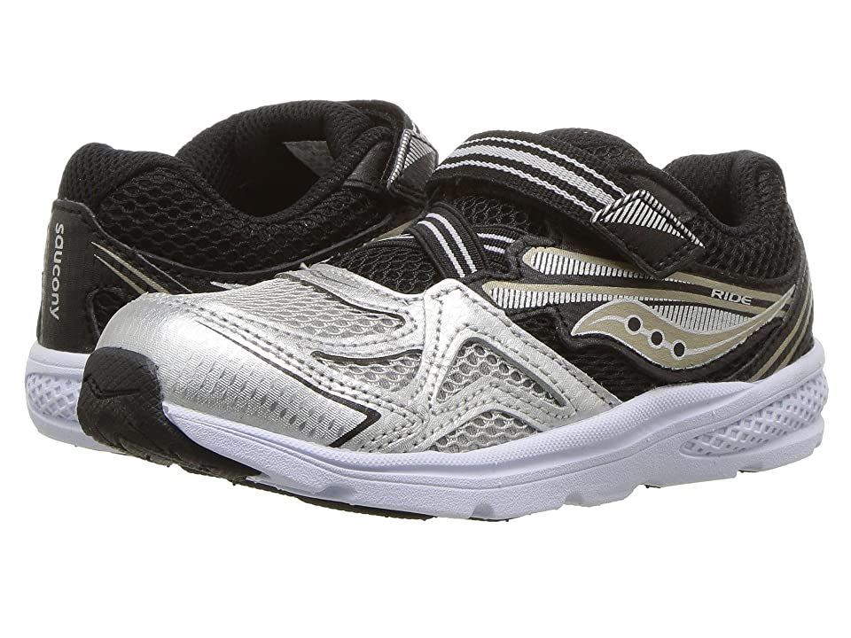 Saucony Kids Ride 9 (Toddler/Little Kid) (Silver/Black) Boys Shoes