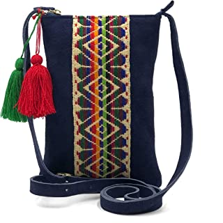 NEW Mexican Black Embroidery Artesanal Handmade Crossbody Bag
