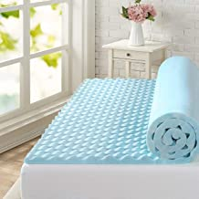 Zinus Swirl Cool Gel Convoluted Memory Foam Air Flow Mattress Topper Protector 4cm - Single Size
