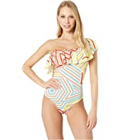 M Missoni - One-Piece Suit in Geometrie Print
