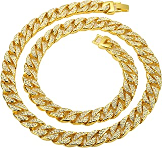 Best gold diamond cuban link chain Reviews