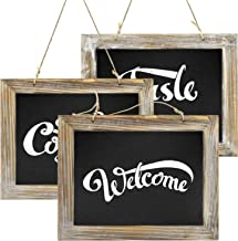 Greenco Decorative Vintage Style Wall Hanging Wooden Framed Chalkboards for Kitchens, Weddings, Parties, Restaurants-Set o...