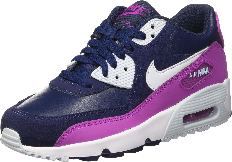 Nike Mädchen Air Max 90 Ltr Fitnessschuhe Blau B01LZAOHQR
