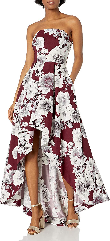 Speechless Womens High-Low Ruffle Front Maxi Dress